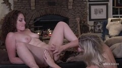 Naughty milf lesbos licking and fingering on the pool table Thumb