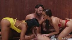 Kinky Sweet sauna sex with two beautiful babes Thumb