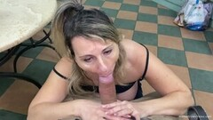 Steamy Busty Wife Wraps Her Tits and Mouth Around a Cock Thumb