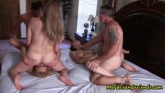 Chicks wrestling, loser gets banged in the ass Thumb