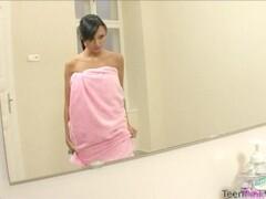 Soapy Pussy Wanking With Tina Thumb