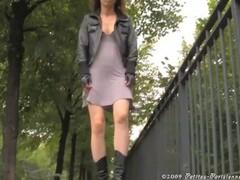 Voyeur upskirt in Paris see thru panties Thumb