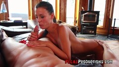 Newbie Sally sucking her first Mexican Derek Forreal Thumb