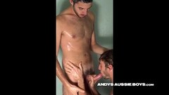 Hot Rimjob with a hot blonde Teen Thumb