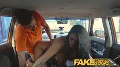 Fake Driving School Naughty Big boobed Hungarian creampied Thumb