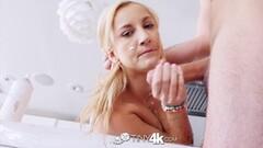 Kinky Francesca Dirty Talks in Italian As Rocco Drills Ass Thumb