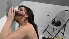 Babe Alessandra Jane blows monster cock and sticks it in her minge Thumb
