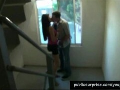 Naughty Blowjob In Public Staircase Thumb
