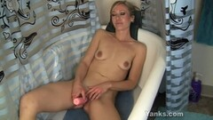 Asian beauty Ryo Asaka gets cock in mouth and jizz on face Thumb