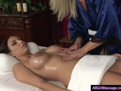2 girls with Big Boobs in a Hot Lesbo Massage Thumb